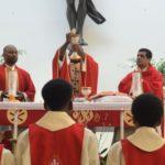 Consecration during Pentecost Mass
